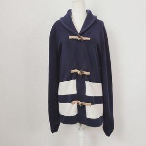 Gap XL Tall Navy Blue Long Toggle Cardigan Sweater